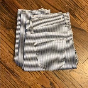 Madewell pin stripe jeans